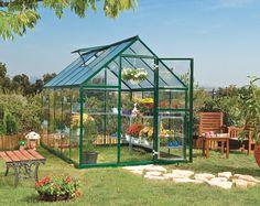 Serre de jardin polycarbonate verte 6m2 - Zoom