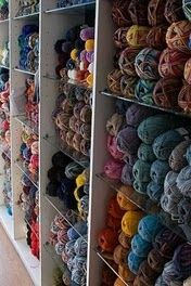 The Knitting Room - excellent yarns and great classes - on the South Side of Crowchild Trail off 53rd St NW...next to an awesome bakery, yoga place, coffee place and Bernard Callebaut's.