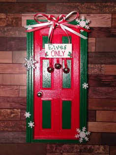 Elf on the Shelf Door by JessicaLeeEvans on Etsy