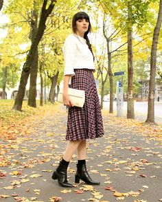 Vintage Pleated Tartan Skirt