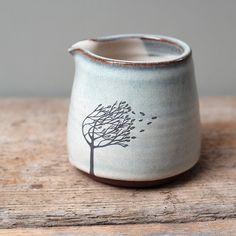 Blue Ceramic Windy Tree Pourer by JuliaSmithCeramics on Etsy https://www.etsy.com/listing/264212176/blue-ceramic-windy-tree-pourer