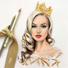 by Natalia Vasilyeva Crayons Pastel, Face Sketch, Polychromos, Beautiful Drawings, Fashion Sketches, Fashion Illustrations, Hair Art, Pencil Art, Art Girl