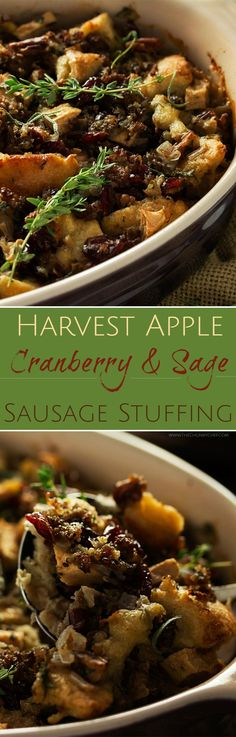 Cranberry and Sage Sausage Stuffing | The ultimate sausage stuffing ...