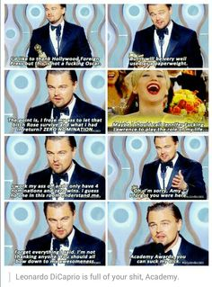 Leonardo DiCaprio is unimpressed