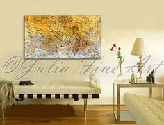 48x28''Large Original Mixed Media Rich by JuliaFineArtGallery, $599.00
