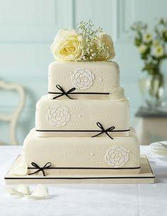 Fruit, chocolate and sponge wedding cake