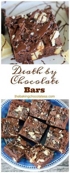 Death By Chocolate Bars via @https://www.pinterest.com/BaknChocolaTess/
