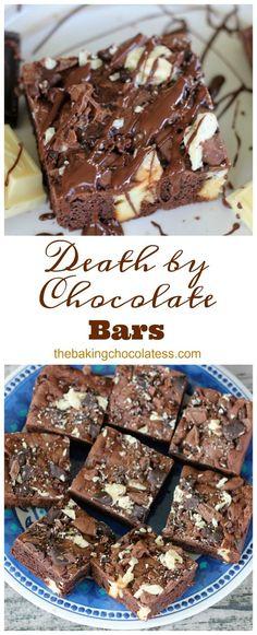 Death By Chocolate Bars via @https://www.pinterest.com/BaknChocolaTess/