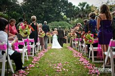 Outdoor Wedding at the Herlong Mansion in Micanopy, FL- by Footstone Photography www.footstonephotography.com