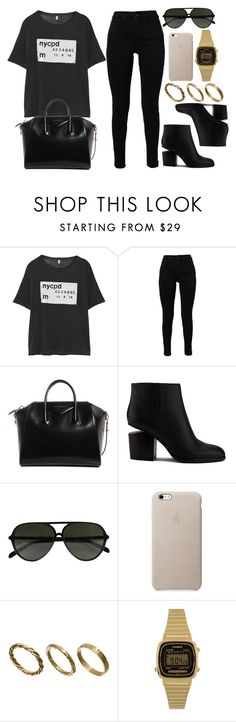 """""""Style #10681"""" by vany-alvarado ❤ liked on Polyvore featuring R13, J Brand, Givenchy, Alexander Wang, CÉLINE, Made and Casio"""