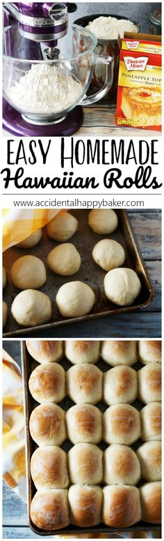 Soft and fluffy Hawaiian rolls, perfect as dinner rolls or for slider buns. Best of all this Hawaiian sweet roll recipe is just 4 ingredients and super easy to make.