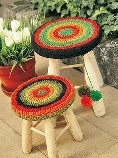 Fundas para banquitos - Deco Crochet