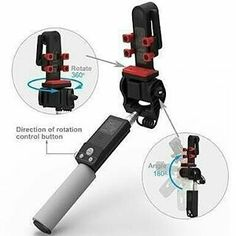 NEW Arrival!!  360 Smart Rotation selfie stick  Simple to Use: Just turn it on pair it with smart phone via Bluetooth to take photos with the accessible handle button. ( 180-degree adjustable head ensure you to find a best & beautiful angle when selfie photographing. Built-in Bluetooth remote control & great battery allows you to take a self-photograph or group photos easily with a better photo sight. All-around vision of 360 auto-rotation panorama shooting photos or videos. Adaptation iOS…