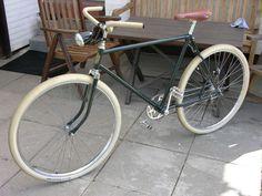 Oldtimer Fahrrad,Halbrenner,Sportrad,Meister Fahrradrahmen mit Torpedo 3-Gang