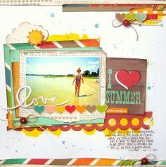 Little Nugget Creations: I Heart Summer (My Creative Scrapbook}