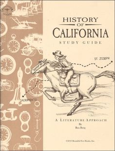 Have you fallen in love with the Beautiful Feet Literature Approaches to history? Then you are sure to love this one on California! Made up of 64 lessons, students will explore the history of the state chronologically through literature. The study covers early exploration and discovery (1400s) through the mid 1900's. Explore the Gold Rush, the Pony Express, the building of the Transcontinental Railroad and more through literature, comprehension, discussion, vocabulary work, map work, student…