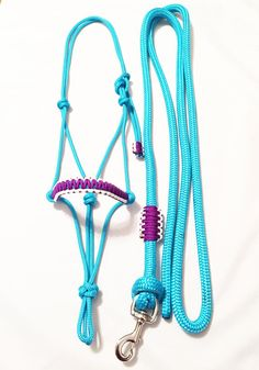 """TEAL 10/' x 3//4/"""" Braided Cotton Lead w// Brass Snap by Showman NEW HORSE TACK!!"""