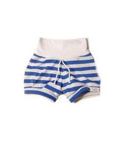 Ezra's Bear everyday play shorties 18 -24m blue & white stripes