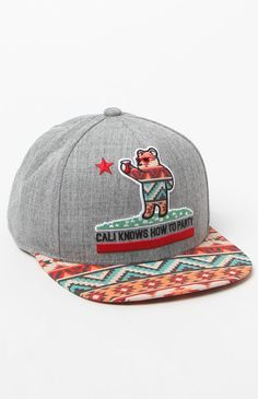 305844d3756 Hooked on Cali Knows How To Party Tribal Snapback Hat that I found on the  PacSun App