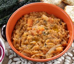 tuscany food bread soupribollita with gabbage onion and beans