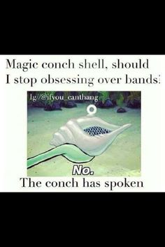 The magic conch has spoken