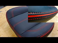 Como Tapizar Asiento con Costuras Decorativas y un Rojo Accent Tips - YouTube Custom Car Interior, Car Interior Design, Truck Interior, Car Seat Upholstery, Automotive Upholstery, Sewing Leather, Leather Craft, Iphone Leather Case, Fit Car