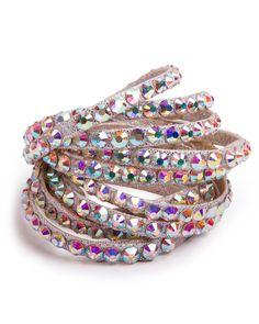 DSI Crystal AB Rhinestone Bangle on Silver Metallic 2750CAB | Dancesport Fashion @ DanceShopper.com