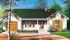 House Plan 65081 | European   Traditional    Plan with 1018 Sq. Ft., 2 Bedrooms, 1 Bathrooms, 1 Car Garage