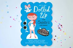 All Dolled Up Children's Birthday Party Invitations by Baumbirdy at minted.com