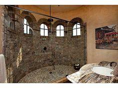 Gorgeous Stone Shower