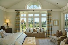 Most of the windows in contemporary houses are floor-to-ceiling windows. There are also many bedrooms that feature floor to ceiling windows because they let more light in the room which is great, but still if you want to keep your privacy in the bedroom consider using drapes. Dual or multi colored, it is up to ...