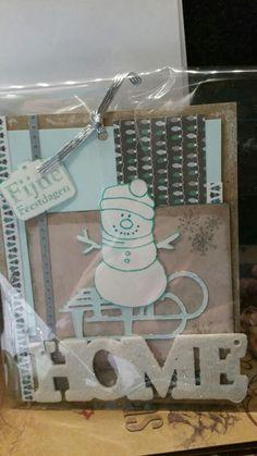 Kerstkaart met deco hanger