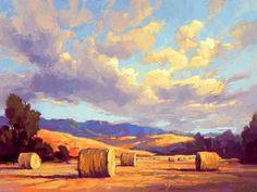 David Mensing Gaze has wonderful clouds in his paintings.