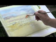 Successfull Summer Watercolour Landscapes With Robert Brindley RSMA Watercolor Landscape Tutorial, Watercolor Art Diy, Watercolor Video, Watercolor Art Paintings, Watercolour Tutorials, Watercolor Techniques, Art Techniques, Watercolours, Painting Lessons
