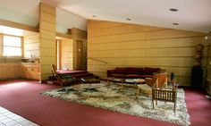 Frank Lloyd Wright's Duncan House - holiday rental outside Pittsburgh