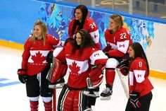 Canada women's national ice hockey team in Sochi?..they took the Gold in this afternoon's (Feb 21, 2014) game against the Americans...so proud of our Canadian athletes...yahoo...