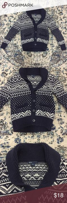 Men's Preppy Gap Fair Isle Sweater   Fair isle knitting, Navy ...