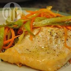 Roast Salmon with Caramelised Leeks @ allrecipes.co.uk