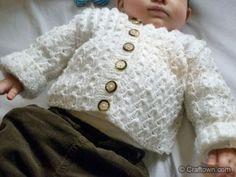 Free Knitting Pattern - Baby Jacket. This would make a great spring jacket for babies. #craftown #knitting #babyjackets