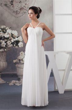 Chiffon Bridesmaid Dress Beach Elegant Casual Petite Simple Low Back A line