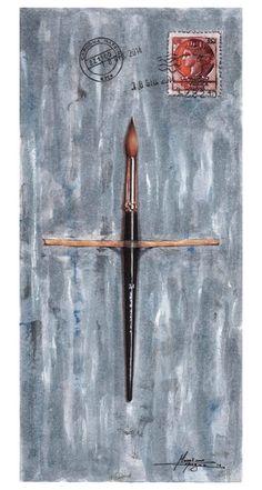 Massimo Capogna - Artist: Acquerello ripassato con penne bic.
