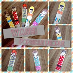 Washi Tape Popsicle People | Crafting Crush
