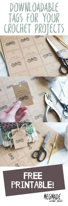 Free Download-- Tags for Your Handmade Items — Megmade with Love
