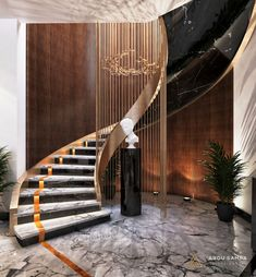 Luxury Staircase, New Staircase, Staircase Railings, Best Interior Design, Bathroom Interior Design, Modern Bungalow Exterior, Concrete Staircase, Chalet Design, Home Stairs Design