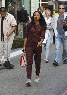 Karrueche-Tran-Shopping-in-West-Hollywood-topshop-yeezy-boost-christian-louboutin
