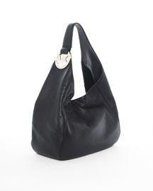 Michael Kors Shoulder Bags - MICHAEL Michael Kors Fulton Large Shoulder Bag, Black - $83.00 - michael kors outlet, christian audigier, white purses