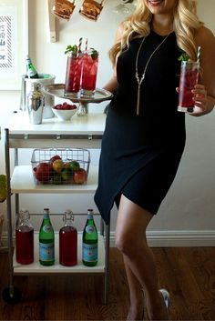 This Asymmetrical Body-Con Dress @nordstrom is the perfect hostess dress to serve up some festive cocktails.