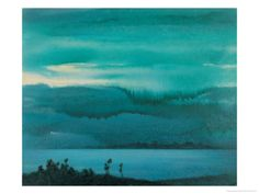 Lake Giclee Print by Yunlan He at Art.com
