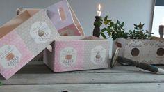 Cajas de madera decoradas con decoupage por www.elpiojito.es