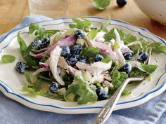 No-Cook Guide - Cooking Light: Blueberry Chicken Salad Celery Recipes, Chicken Salad Recipes, Healthy Chicken, Chicken Salads, Healthy Blueberry Recipes, Healthy Recipes, Simple Recipes, Healthy Salads, Leftover Chicken Recipes